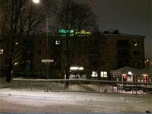 Råcksta Centrum kvällstid