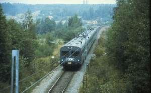 Pendeltåg på Nynäsbanan 1976