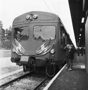 Pendeltågsinvigning maj 1968