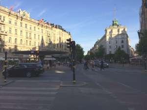 Stureplan och Birger Jarlsgatan söderut