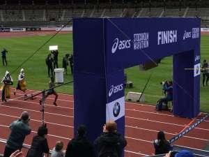 14:10 Stockholm Marathon Stockholms stadion målgång Nigussie Sahlesilassie