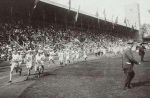 Stockholms stadion 14 juli 1912 starten marathon
