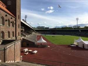 Stockholms stadion från norra läktaren