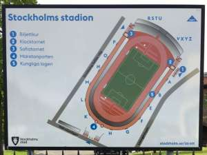 Stockholms stadion informationstavla