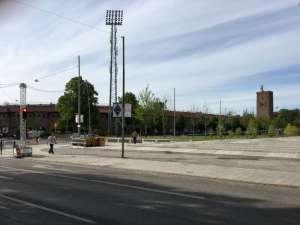 Stockholms stadion vid korsningen Valhallavägen Lidingövägen